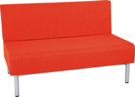 Brandvertragende  sofa, dubbel - oranje