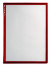 5 stuks Magnetische documenthouders A4, rood