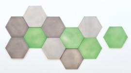 Geluiddempende zeshoeken set 1
