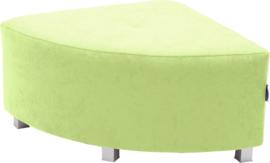 Flexi hoekbank, zithoogte 35 cm,  groen