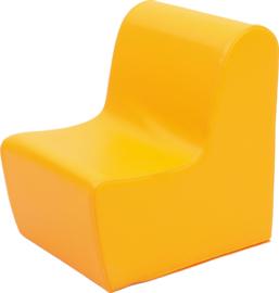 Hoge bank zithoogte  34cm - oranje