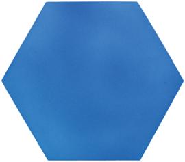 Geluiddempende zeshoek - babyblauw, 20 mm