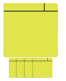 5x Magneet scrum 75x75mm geel
