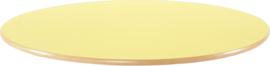Rond Flexi tafelblad 120cm geel los