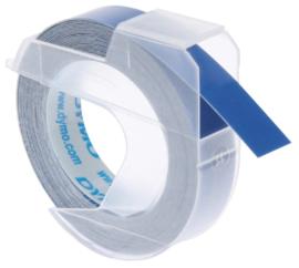 10 stuks Labeltape Dymo rol 9mmx3M glossy vinyl prof blauw