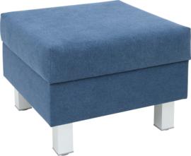 Vierkante relax poef marineblauw - vierkante poten