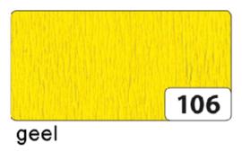 Crepepapier  250x50cm nr106 geel