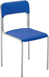 Levi stoel alu blauw