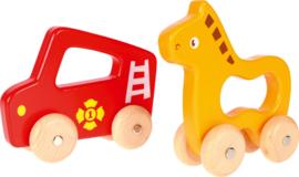 Houten auto - brandweer