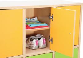 Kleurrijke deuren voor boekenkasten geel
