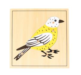 Noppen puzzel vogel