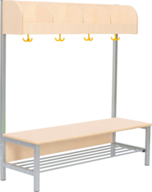 Flexi garderobe 4, zithoogte 35 cm - esdoorn