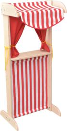 Poppentheater-marktkraam