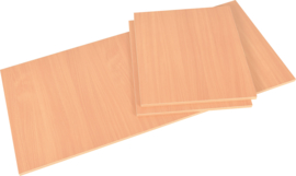 Set van 3 covers voor LOGO tafel - aluminium - beuken