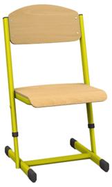 Len stoel met instelbare hoogte - maat 1-6 geel