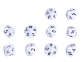 Dobbelstenen getallen 10 zijden