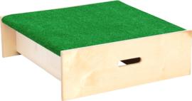 Vierkant platform met gras vloerbedekking, hoogte: 20 cm