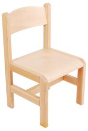 Hout stoel , naturel maat 1-3