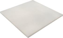 Geluiddempend vierkant - platina, 20 mm