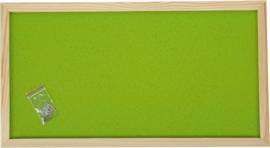 Prikbord 100 x 200 cm - lichtgroen