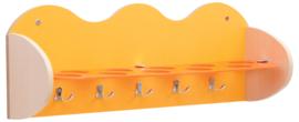 Plank voor bekers en accessoires - geel