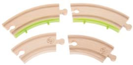Houten sporen met een trein, dubbele sporen - aanvullende reeks 21