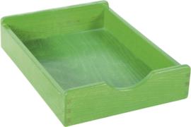 Houten lade - groen