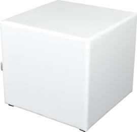 Vierkante witte poef zithoogte 54 cm