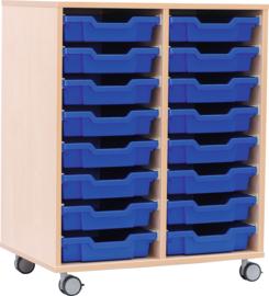 M-kast voor plastic containers met wielen