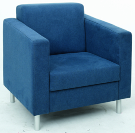 Relax fauteuil marineblauw - ronde poten
