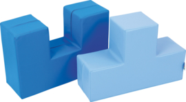 Blauwe duoblokken