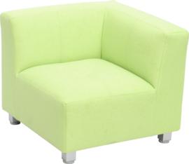 Flexi hoekbank, zithoogte 25 cm,  groen