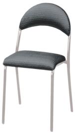 Jay stoel, gestoffeerd, maat 6, zilver, grijs-zwart ruit