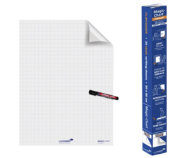 Magic-Chart Legamaster Whiteboard 60x80cm wit ruit 25 vel
