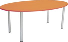Ovale tafel beuken 120 x 200 cm