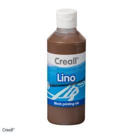 Creall lino/blockprint verf bruin
