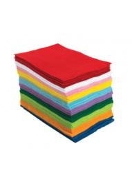 Vilt  Klassenpakket  assortiment 10 kleuren  1 mm  15 x 23 cm  100 vel