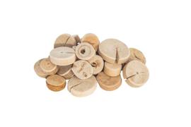 Ronde schijven hout doorsnee 2-4 cm  1 kilo