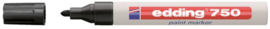 Viltstift edding 750 lakmarker rond zwart 2-4mm