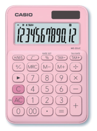Rekenmachine Casio MS-20UC roze