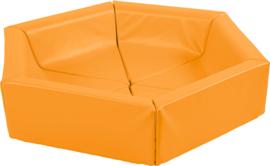 Zeshoekig zitje - oranje