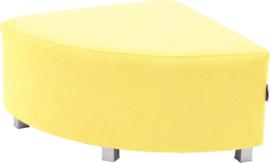Flexi hoekbank, zithoogte 35 cm, geel