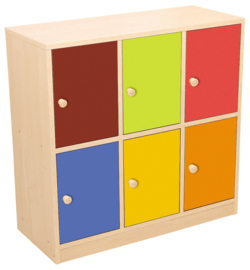Kleurrijke deuren voor boekenkasten groen