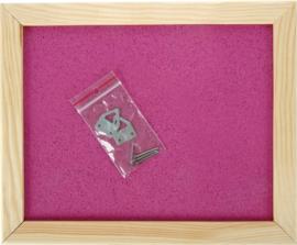 Prikbord 60 x 90 cm - roze