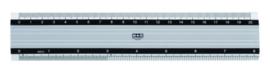 Liniaal M+R 1820 200mm aluminium