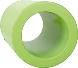 Foam cilinder met gat - groen