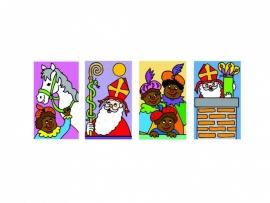 Stickers Sint en Piet - serie 47
