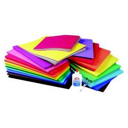 Set knutselpapier 1000 vel 120 grams A4 en 20x20 cm - assorti