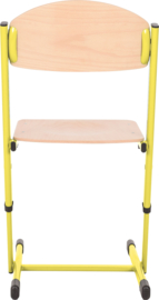 Len stoel met instelbare hoogte - maat 3-6 geel