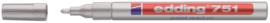 Viltstift edding 751 lakmarker rond zilver 1-2mm